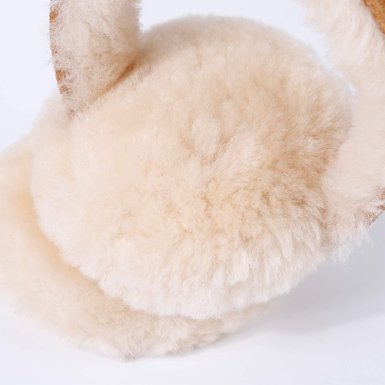 Women Winter Ear Muffs, Australian Sheepskin Wool Ear Warmer, Outdoor Classic Soft Earmuffs, Chestnut, One size at  Men's Clothing store