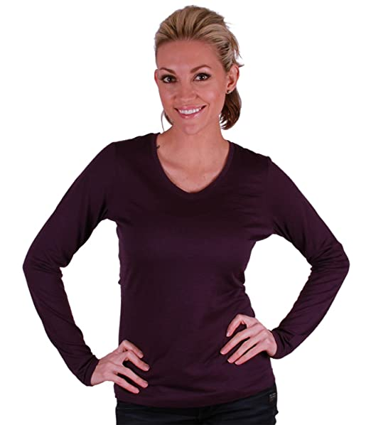 7ba9fda0761 Amazon.com  Segments Womens Australian Merino Wool Segments Long Sleeve  Shirt (Small