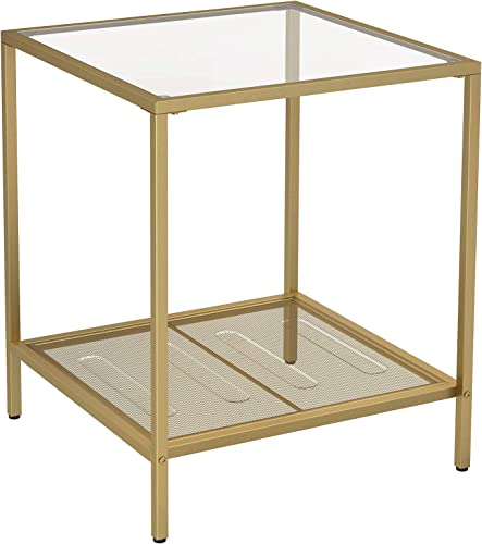 Best rustic end table: VASAGLE Side Table