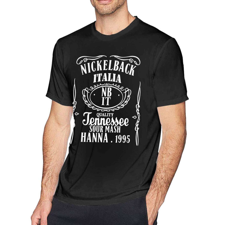 Wxzdh S Funny Nickelback T Shirts Black