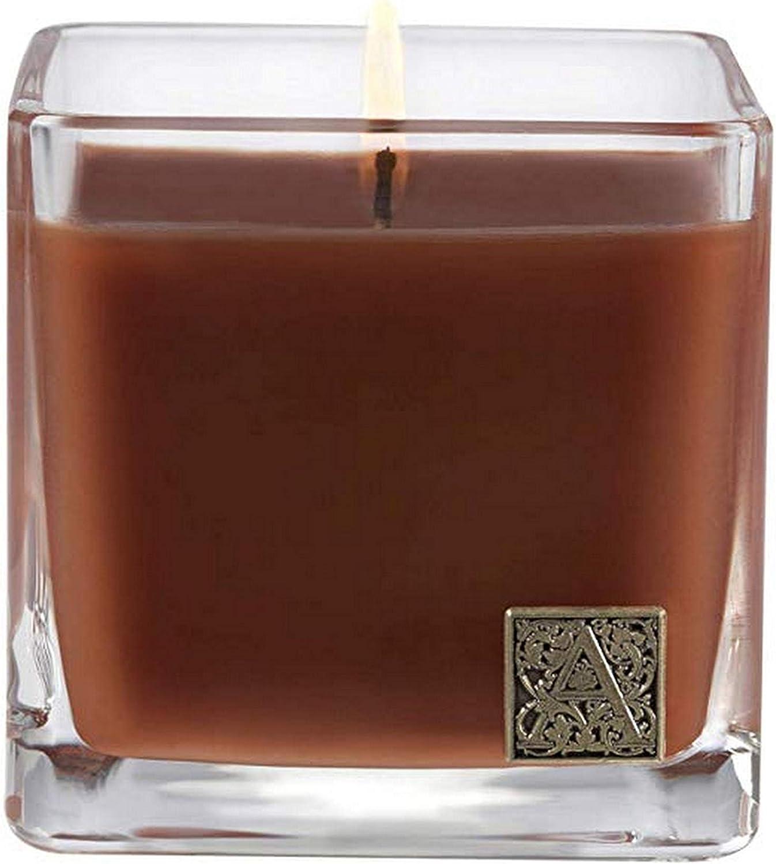 Cinnamon Cider Medium Glass Cube 12oz Candle by Aromatique