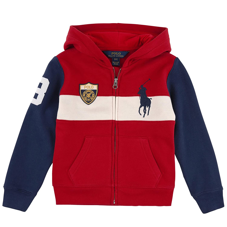 68f28c591 Amazon.com: RALPH LAUREN Polo Boys Big Pony Full Zip Hoodie Jacket  Sweatshirt: Clothing