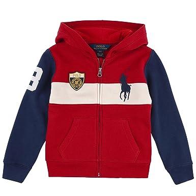 ff54c2261 Amazon.com  RALPH LAUREN Polo Boys Big Pony Full Zip Hoodie Jacket ...
