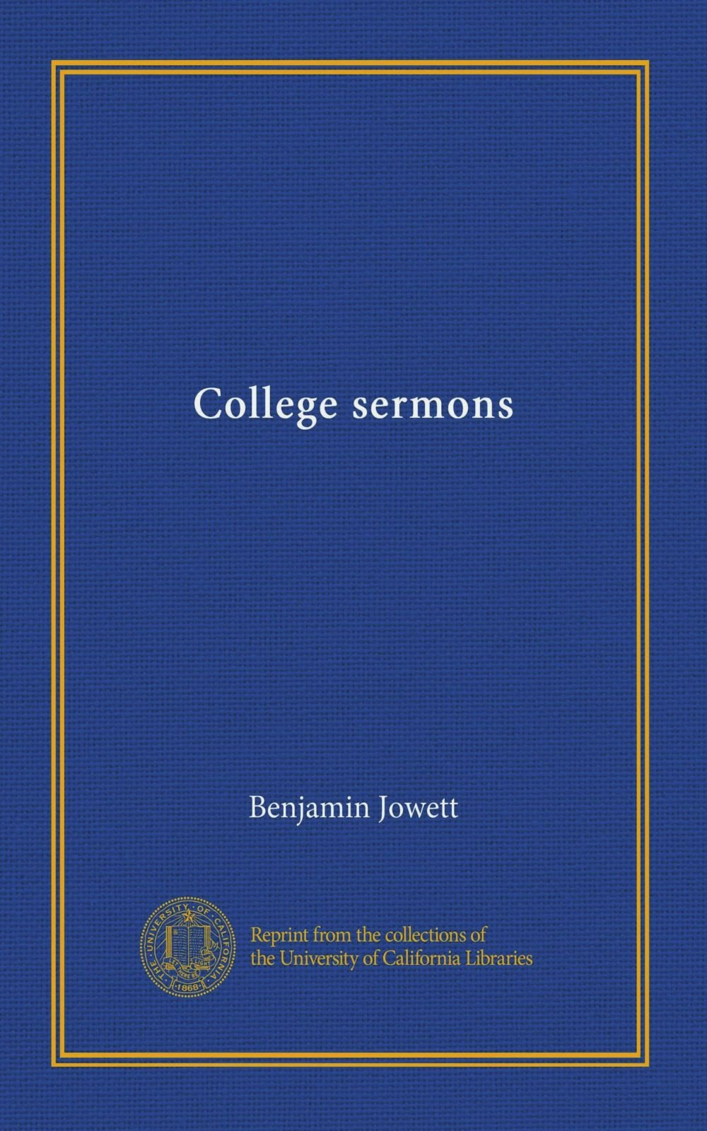 Download College sermons ebook