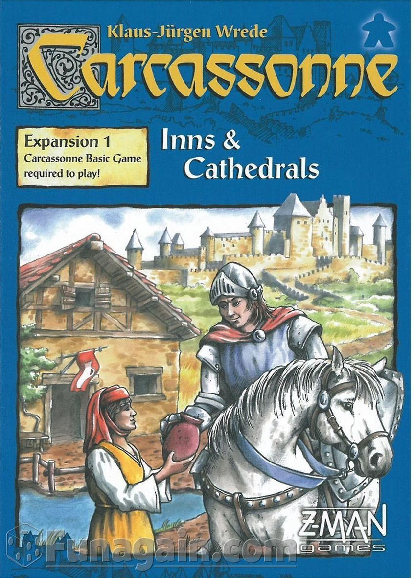 Carcassonne Exp 1 Inns And Cathedrals - Set de inicio de cartas (Z Man Games ZMG78001) (versión en inglés)