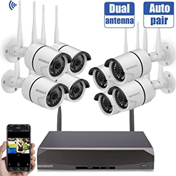 NEW FIRST ALERT 4800 SET 4 WIRED SECURITY CAMERA SYSTEM NEW 8 CHANNEL