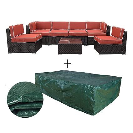 Superb Amazon Com Orno Ttobe Outdoor Patio Furniture 7Pc Lamtechconsult Wood Chair Design Ideas Lamtechconsultcom