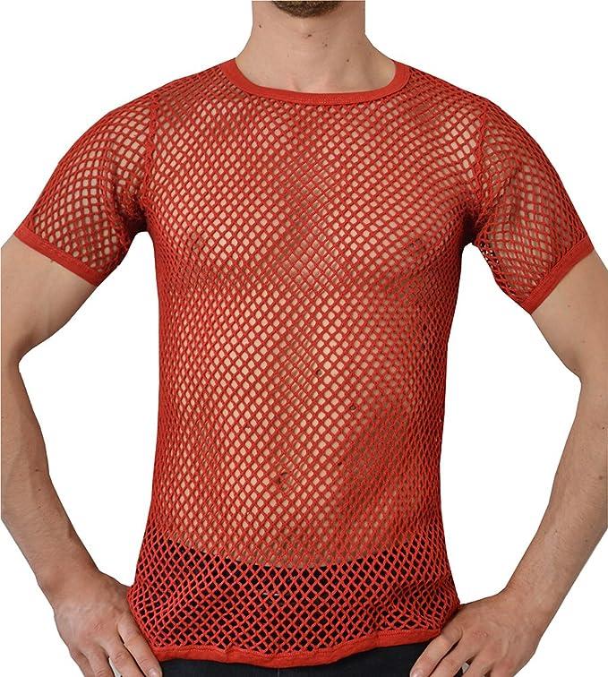Crystal Hombre 100% Algodón Camiseta de Malla Ajustada Tallas S ...