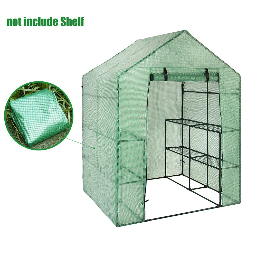 US-PopTrading Greenhouse Plant Cover, Outdoor Portable Durable Mini Walk-in PE Waterproof Cover for Herb and Flower