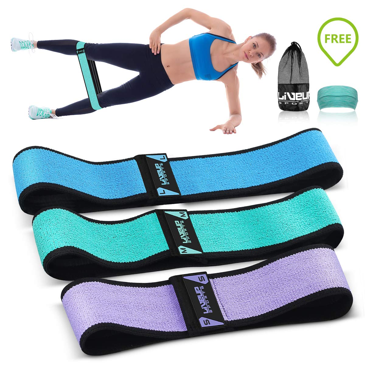 Hip Bands for Booty Resistance Workout Bands for Legs and Butt Heavy Exercise Loops Gym Bands Perfect Activate Glutes and Thighs Building Beachbody Resistance Set of 3 for Women and Men WEHVKEI