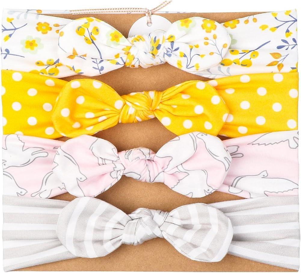 Vellette Fasce Elastico Cerchietti con Fiocco per Capelli Bambine Multicolori Capelli Bimba di Bowknot Elastica Colori E Fiori Diversi Fai da Te Regali per Neonate Baby 3Pcs
