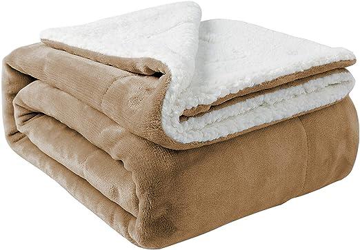 Decke Sofa Bett Fleece Bettwäsche 130x170cm Groß Weihnachten Werfen Doppel