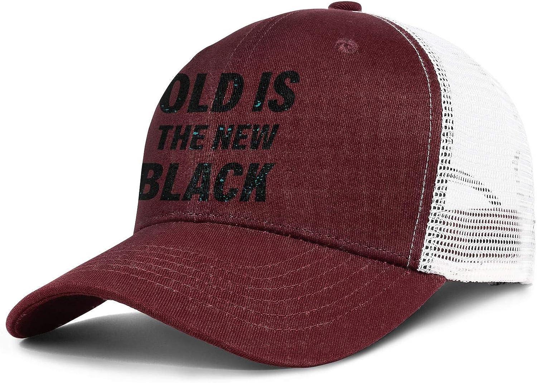 Old is The New Black Men Womens Sun Trucker Cap Adjustable Snapback Beach Hat