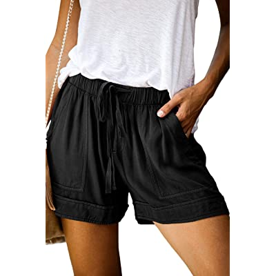 CILKOO Womens Comfy Drawstring Casual Elastic Waist Pocketed Shorts(S-XXL) | Amazon.com
