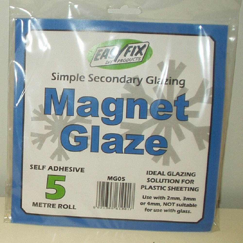 Easyfix 5m Magnet Glaze - Simple Secondary Glazing, for use plastic sheeting Tubeway (Sales) Limited MG05