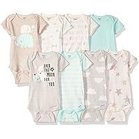 Gerber Baby-Girls Unisex-Baby 8-Pack Short-Sleeve Onesies Bodysuit Infant-and-Toddler-Bodysuits