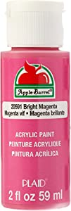 Apple Barrel Acrylic Paint in Assorted Colors (2 oz), 20591, Bright Magenta