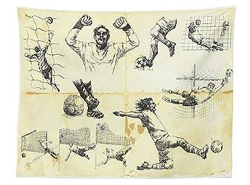 Vipsung Sport Decor Tischdecke Collection Der Verschiedenen Fußball