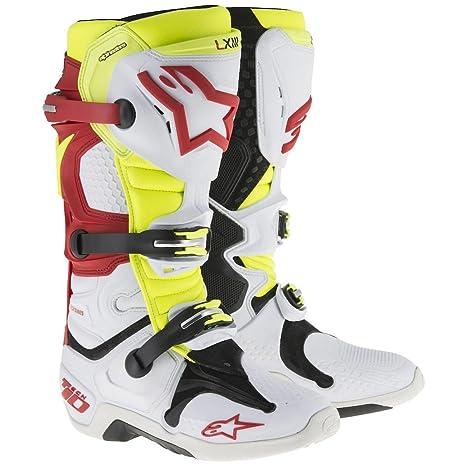 Mx Boot Alpinestars 2014 Tech Ten Bianco-Rosso-Blu (Eu 45.5 / Us 11 , Bianco)