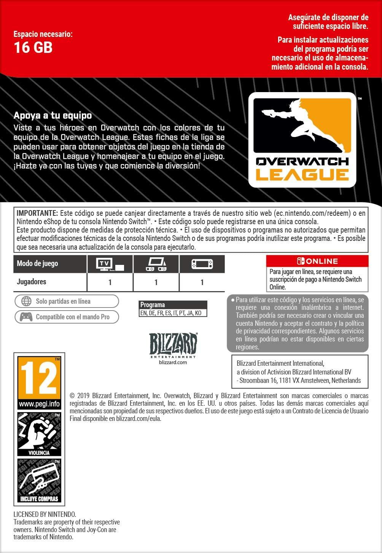 Overwatch 200 League Token | Nintendo Switch - Código de descarga ...