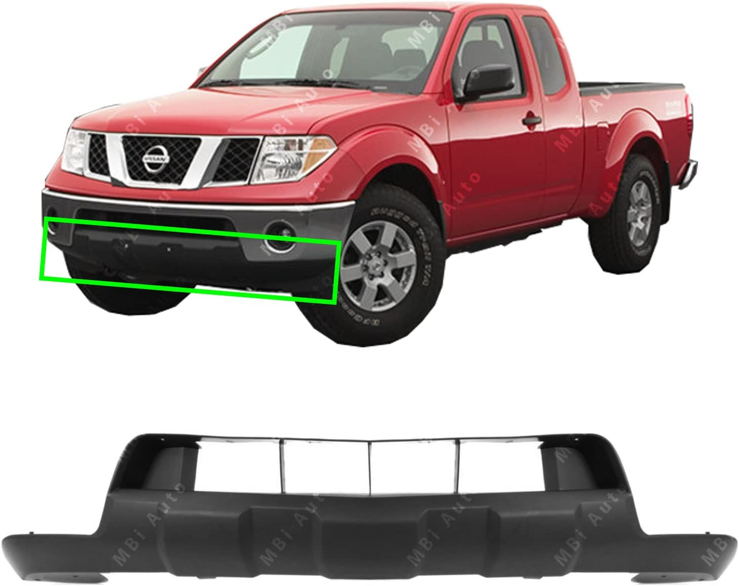 Upper BUMPER COVER Primed compatible with 2005-2008 Nissan Frontier Front
