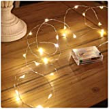 PESCA 3AA Battery Powered, Waterproof, Copper Wire String Fairy Lights with 30 LEDs Warm White 3 Meter