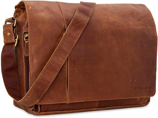 Stilord Elias Ledertasche Herren Umhängetasche Unitasche Laptoptasche 15 6 Zoll Aktentasche Bürotasche Büffel Leder Schuhe Handtaschen