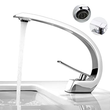 BONADE Waschbecken Wasserhahn Bad Armatur Chrom Mischbatterie  Waschtischarmatur Badarmatur Einhandmischer Waschtischmischer Armaturen  Badezimmer ...