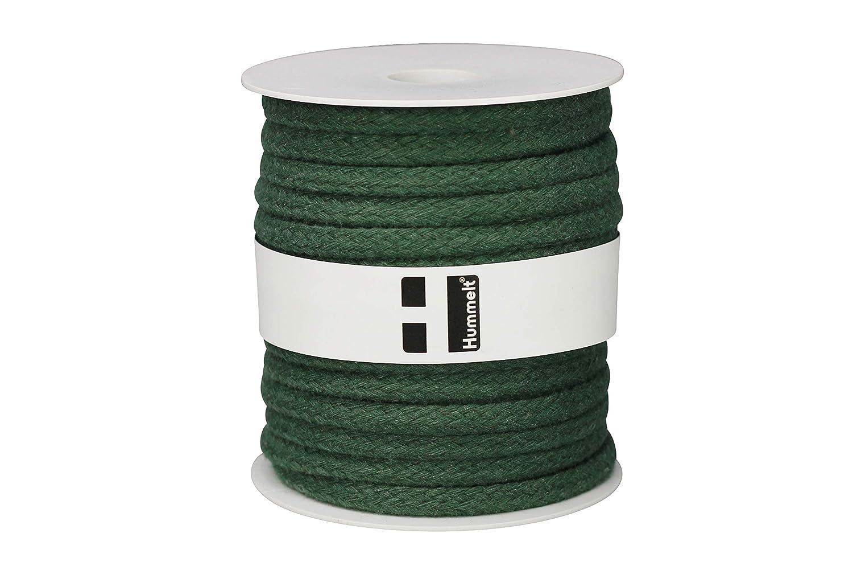 8mm 20m gr/ün auf Rolle H Hummelt/® SilverLine-Rope Baumwollseil Baumwollkordel