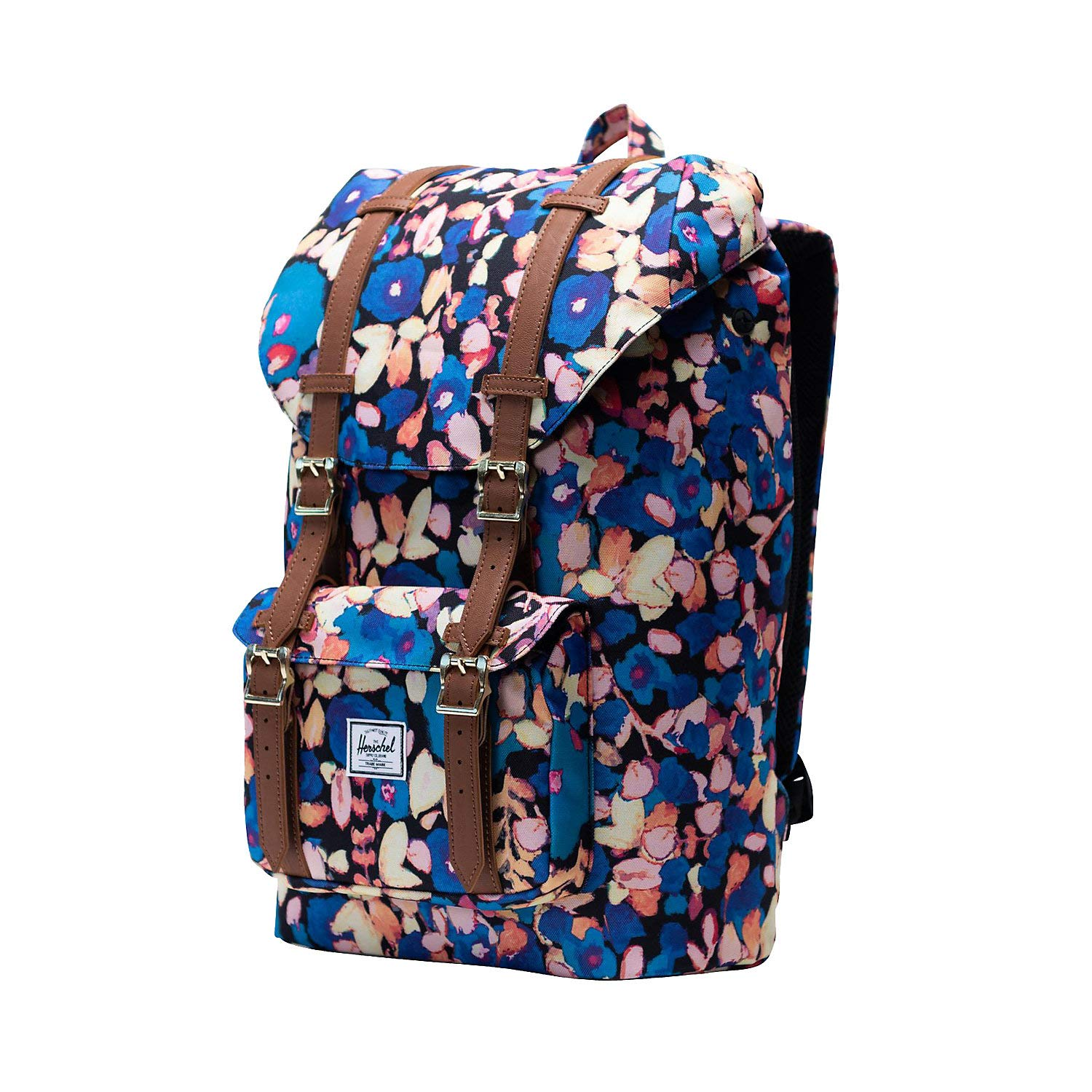 Herschel Supply Co. バックパック  Painted Floral/Tan Synthetic Leather B07DYTJN4Z