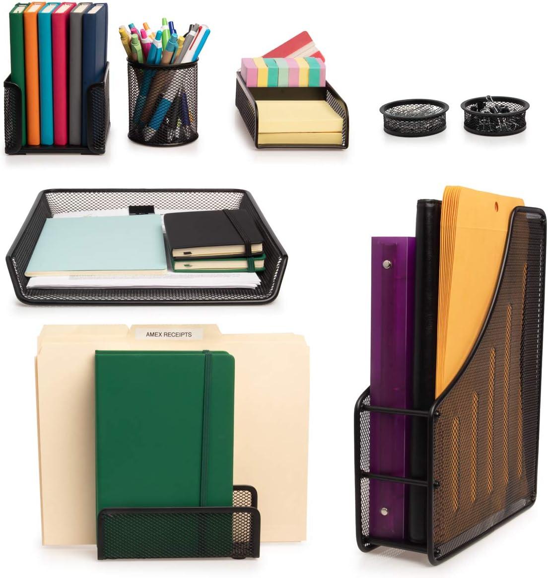 Simply Genius (8 Piece) Office Desk Accessories Computer Desk Organizer Set Office Supplies File Notebook Pencil Holder