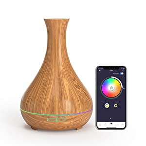 meross Smart Aroma Essential Oil Diffuser, Smart WiFi Ultrasonic Aromatherapy Diffusers 400ml Humidifier, Works with Alexa and Google Home, App Control & Timer, Ultra Quiet for Home Office Room