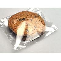 "5 x 5 + 1"" BG + 1-1/2"" LIP Clear Plastic Cookie Bag - Self Seal (100 Bags)"