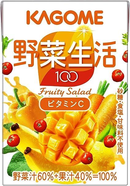 カゴメ 野菜生活100 マンゴーサラダ 100ml (36本入×2ケース)合計72本