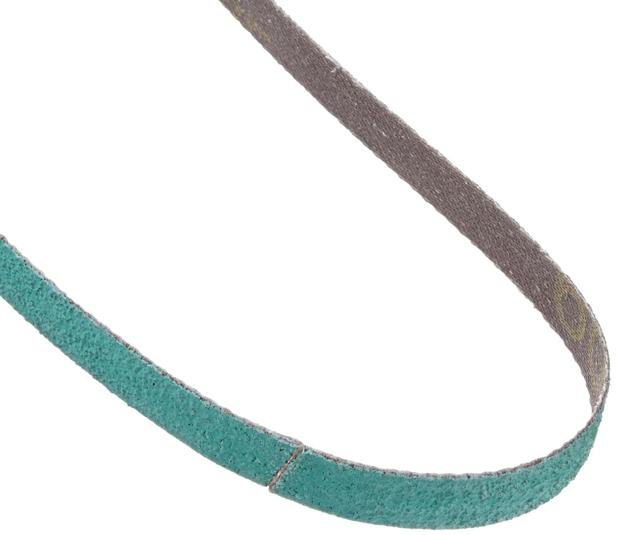 3M Cloth Belt 577F, Alumina Zirconia, Wet/Dry, 1/2'' Width x 18'' Length, 60 Grit, Green (Pack of 200)