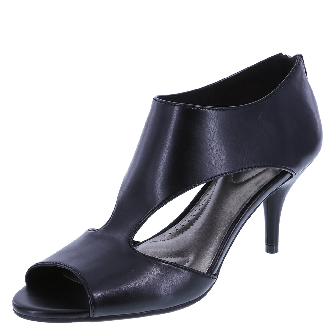 foto Comfort Plus Womens Black Low Block Ankle Boot-18593 modern collection