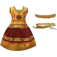 Amirtha Fashion Girl's Silk Cotton Lehanga Choli