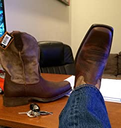 Amazon.com: Customer Reviews: Ariat Men's Rambler Wide Square Toe ...