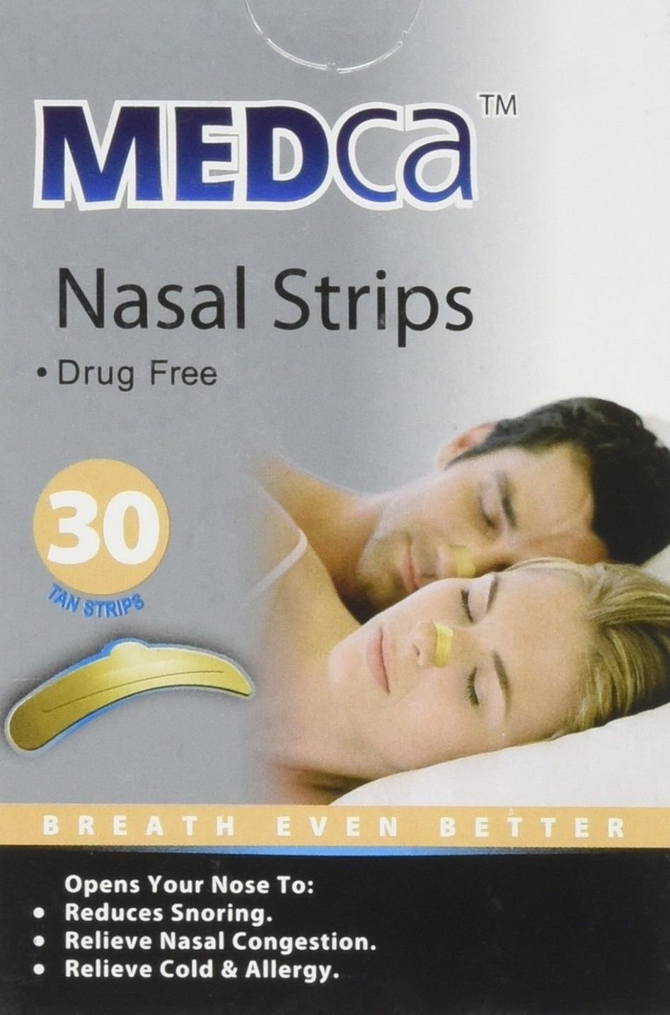 Amazon Medca Adult Tan Nasal Strips Relieves And Opens Nasal