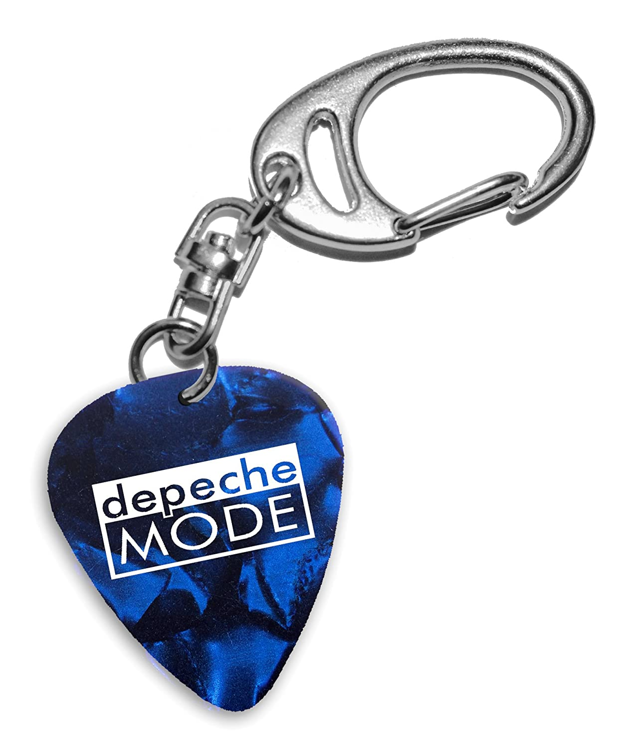 Depeche Mode Band Logo Blue Keyring Portachiavi plettro chitarra (H) We Love Guitars
