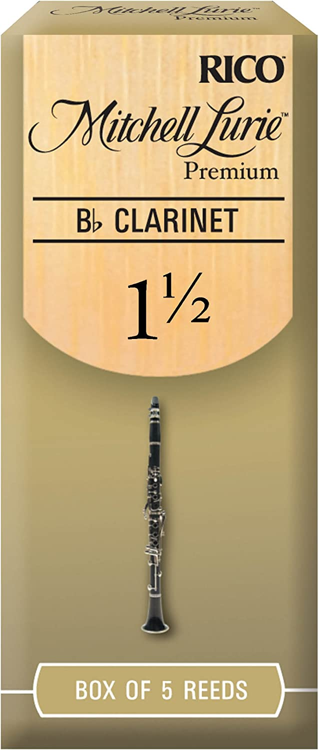 Rico RMLP5BCL250 Mitchell Lurie Bb 2.5 Clarinet Reeds 5 Pack