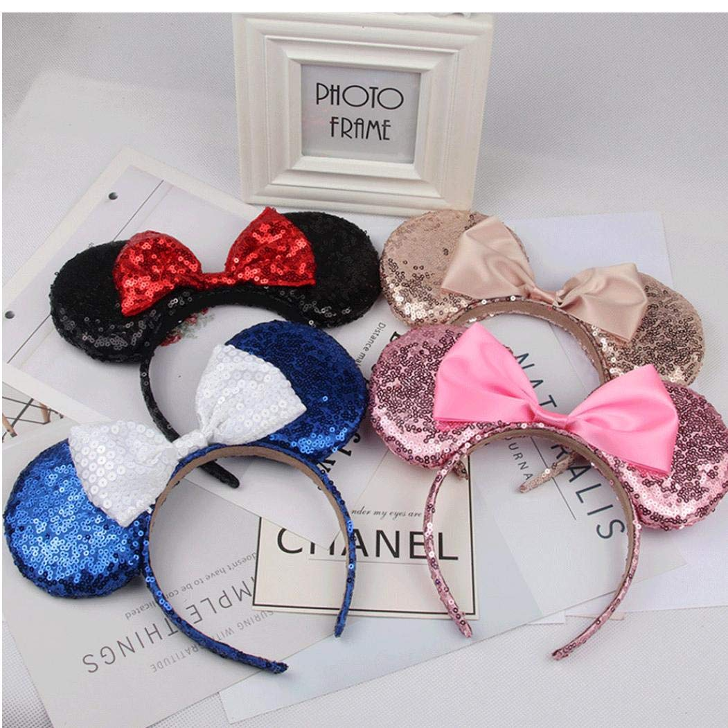 Mickey Mouse Sveglio Orecchie Fascia Farfalla Glitter Hairband Per Ragazze