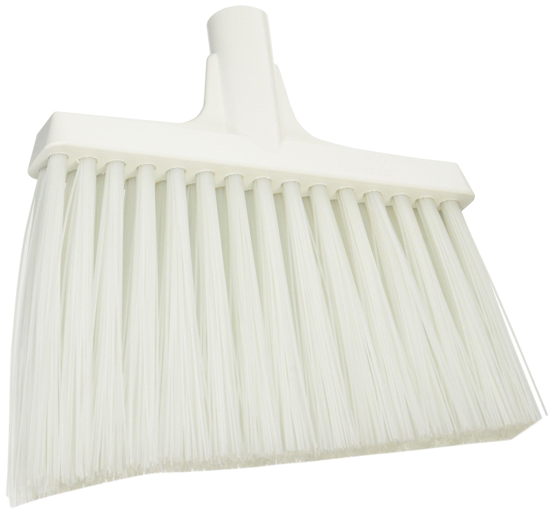Vikan 29145 Heavy Duty Sweep Floor Broom Head, PET Bristle, Polypropylene Block, 11'', White by Vikan