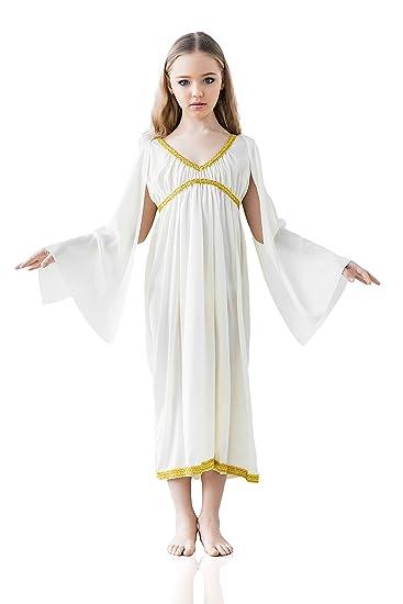 kids girls greek goddess halloween costume aphrodite athene dress up role play 3