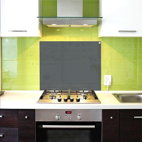 Küchenrückwand, Glas Spritzschutz, 75 x 60 cm, Grau: Amazon.de ...
