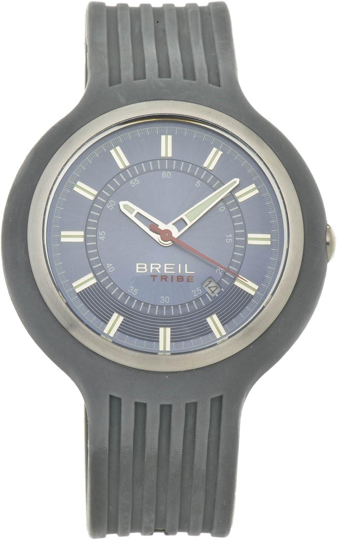 Breil TW0428 - Reloj para Hombres, Correa de Goma Color Gris