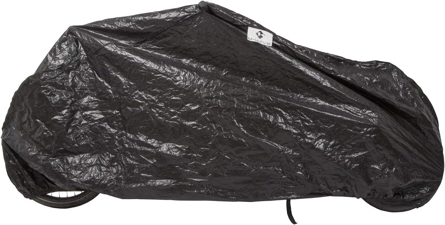 schwarz widerstandsf/ähiges Tarpaulin Fahrradschutz Gr/ö/ße ca Erwachsene Cargo Fahrradgarage extra M-Wave Unisex/ einspurige Lastenr/äder 290x120x70 cm