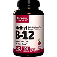 Jarrow Formulas Methyl B-12 500 mcg, Supports Brain Cells & Nerve Tissue, 100 Lozenges