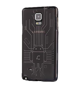 CruzerLite Bugdroid Circuit - Carcasa para Samsung Galaxy Note 4, negro