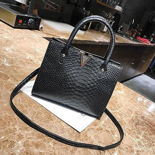 75d2fe33015 Women Shoulder Bags,Todaies Woman Crossbody Bags PU Leather Handbag  Alligator Pattern Shoulder Bag 2018 (25cm(L)12cm(W)20cm(H), Black)  Beauty